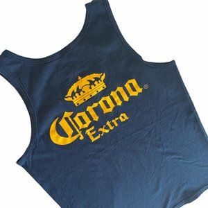 Corona Extra Beer Tank Top T-shirt Blue